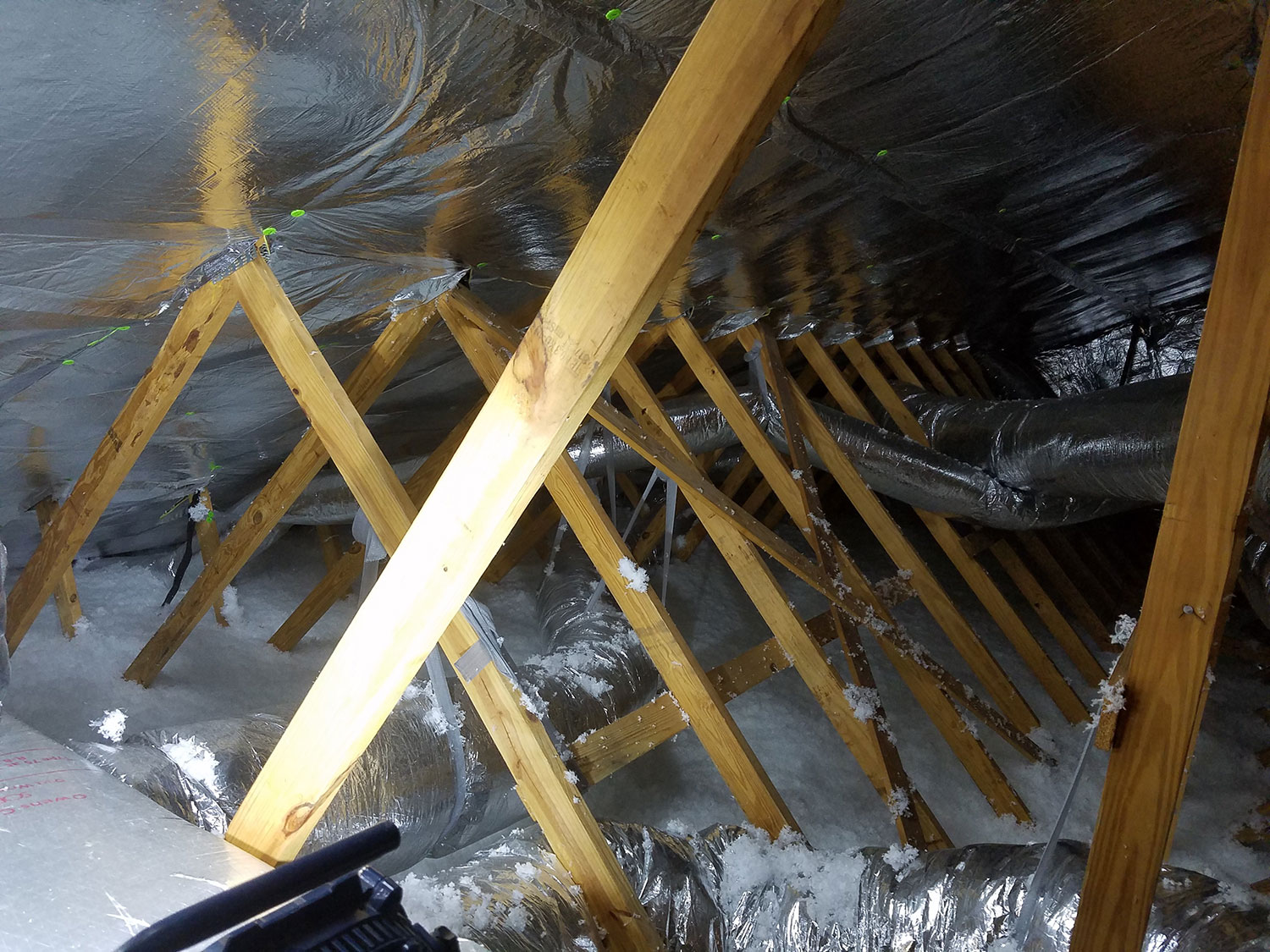 Radiant Barrier Installed on Building Walls