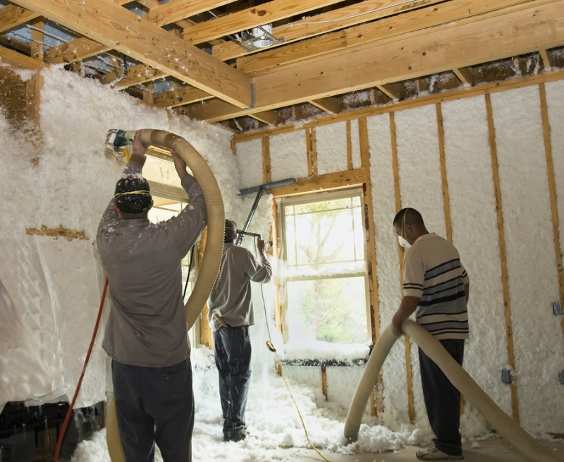 28 Insulation Being Blown In The Blown In