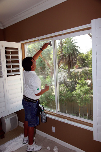 A window with Decorative Window Film